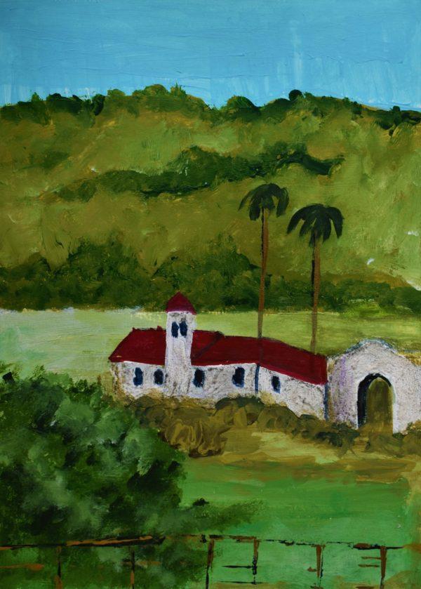 CG Mexico Countryside 9×12 Acrylic $50 1-18