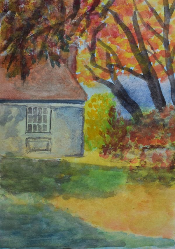 CG Nestled in Fall 9×12 Watercolor $45 9-16