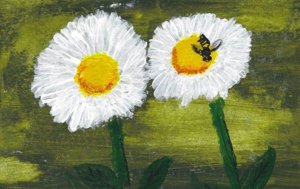 DS Bumble Bee Sweet 6×9 acrylic $45 6-19