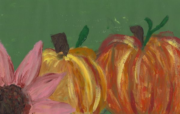 DS Fall Time Pumpkins 7.5×11 acrylic $45 9-19