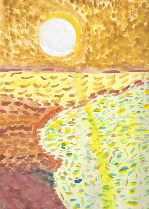 DS Golden Sunshine 9×12 acrylic $45 9-16