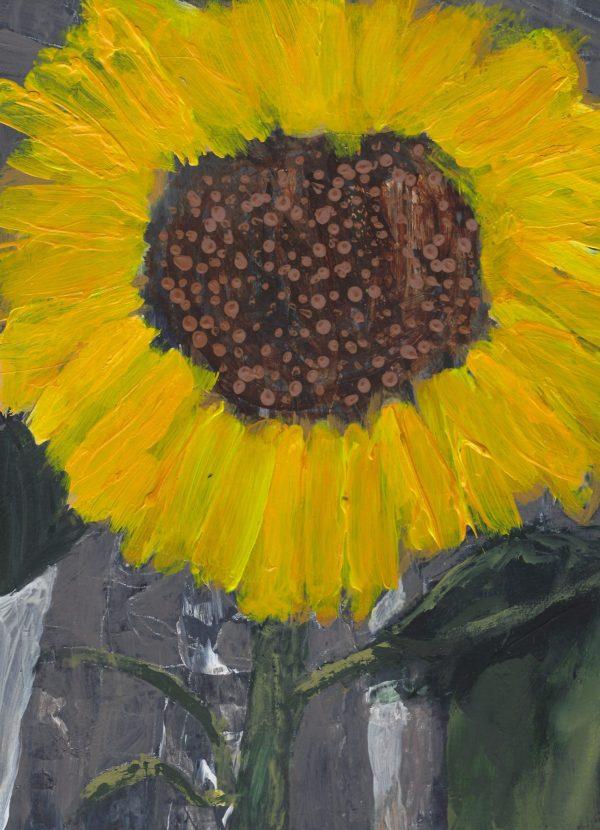 DS Sunflower Tears 9×12 acrylic $45 3-18