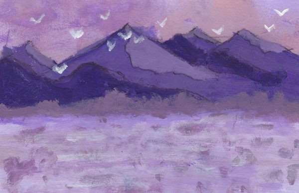 DS The Purple Plains 6×9 acrylic $45 7-19