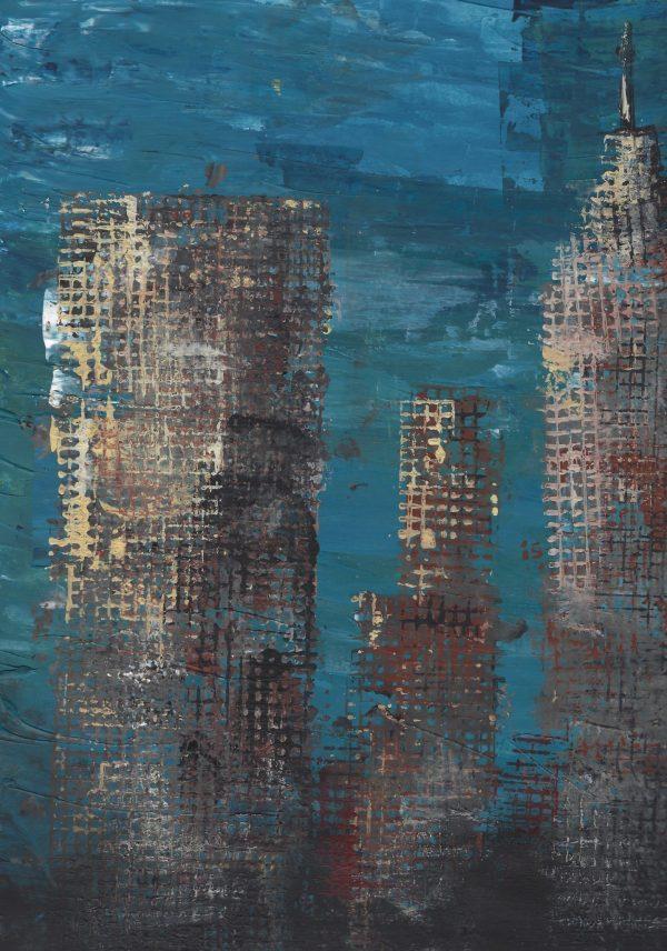 DaK Gridlocked City 9×12 acrylic $45 4-16