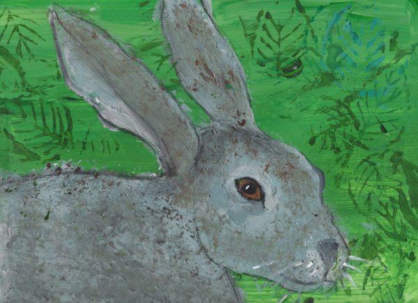 DaK March Hare 9×12 acrylic $40 6-19
