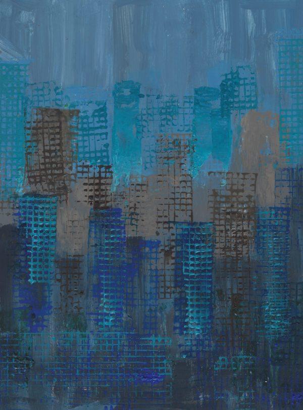 DaK Towering 9×12 acrylic $40 4-17