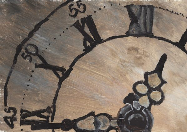EH Father Time 9×12 acrylic $45 7-16