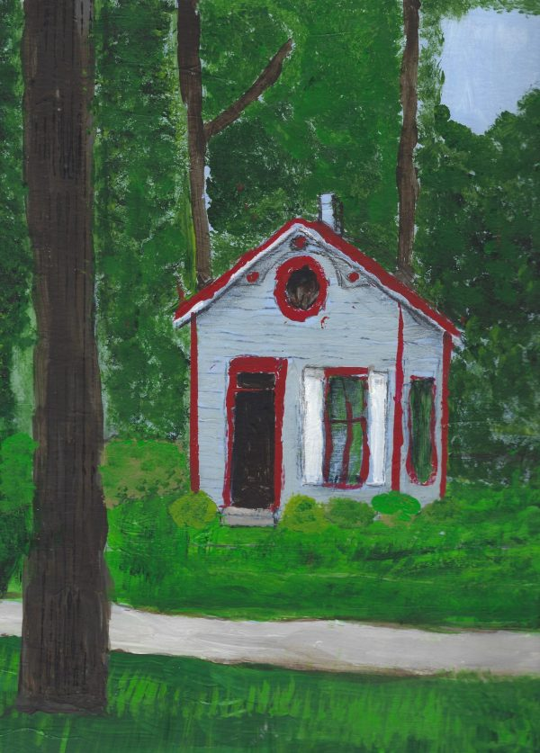 GS Landis Valley Cottage 9×12 acrylic $45 7-17