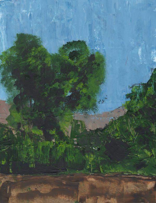 JuS Tree Tops 9×12 acrylic $45 11-16