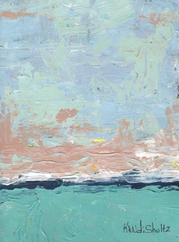 KS Abstract Seashore 9×12 acrylic $50 12-17