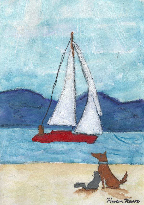 KW Sails and Tails 9×12 mixed $50 4-18