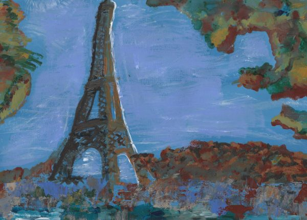 We'll Be Together in Paris 9×12 acrylic $45 3-2020