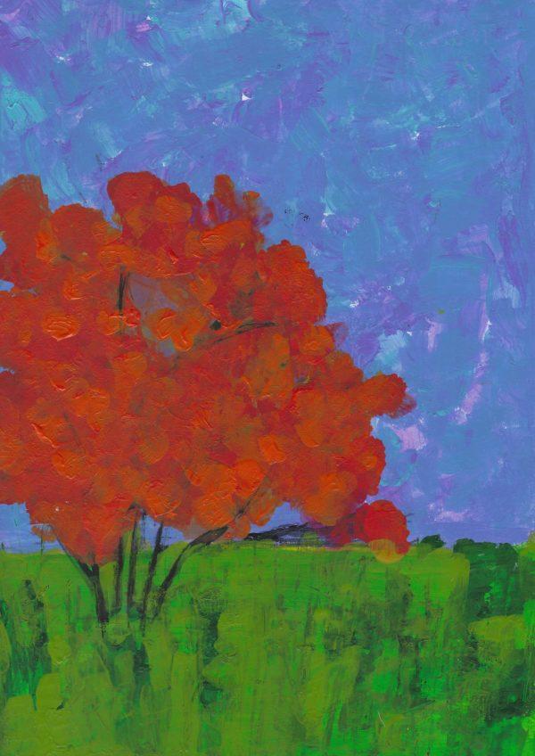 SaL Autumn Dusk 9×12 acrylic $45 10-16