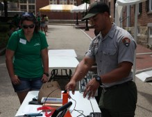 SCIP ranger Rich shared his knowledge on green energy in parks