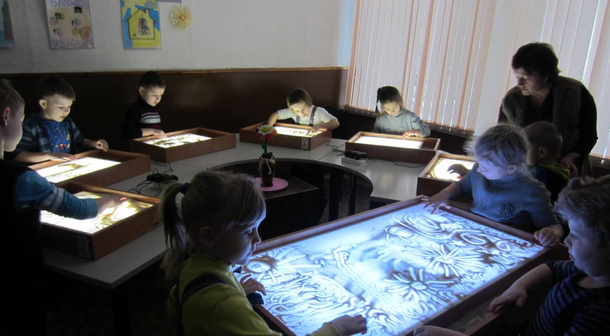 """Sand animation"" special equipment, Dzerzhinsk"