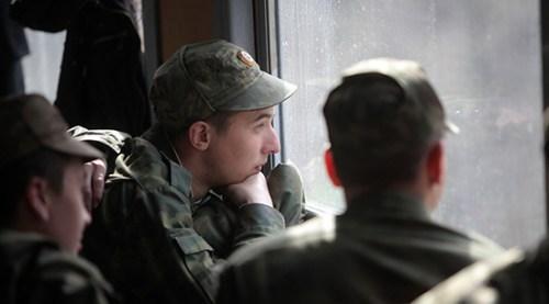 Military conscripts in Russia