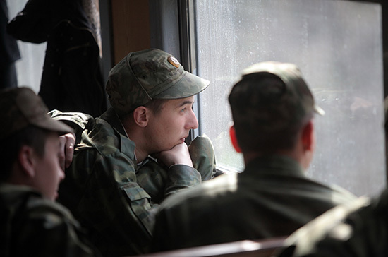 Military conscripts in Russia