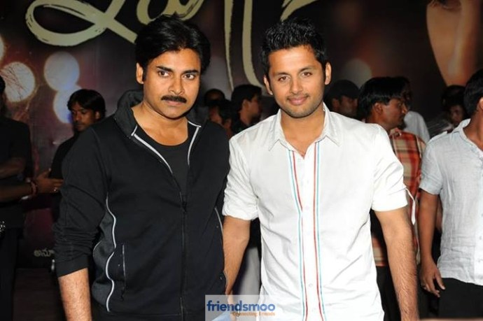 Unseen Photo of Nithin and Pawan Kalyan
