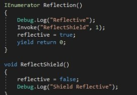 This code snippet is the shield state switch