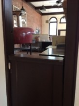 The cool Dutch door to the kitchen