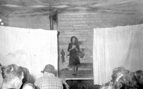 """""""Christmas Pageant At The Community Hall With Pat Lindaas; Palling."""" [1947]. Image Item B-02186/RBCM&A"""
