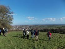 Walk To The Source - 30/01/2016. - Dundry, east of East Dundry Lane, looking east towards Keynsham and Bath.