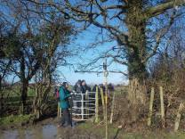 Walk To The Source - 30/01/2016. - The fields between Whitchurch and Dundry. - It was a bit boggy under foot!