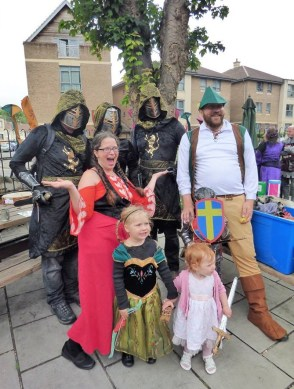 Knights and pilgrims (Picture by Jane Vellender)