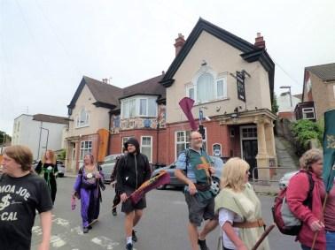 Past the Pilgrim Inn, Brislington.