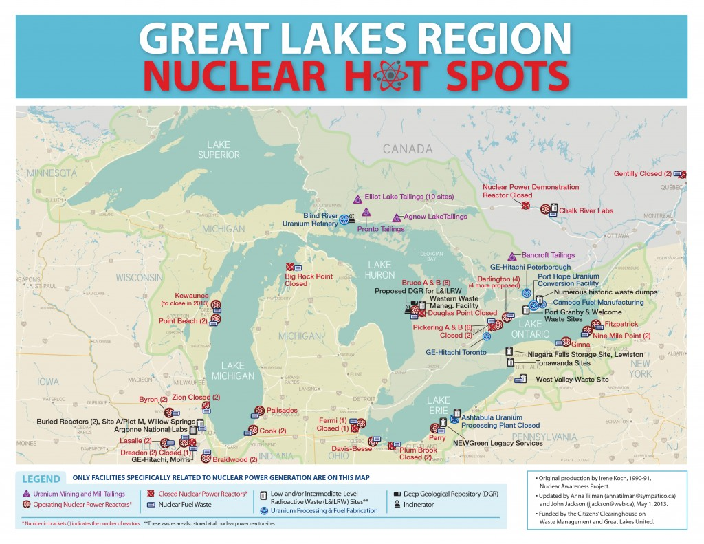 Nuclear map of the Great Lakes – Friends of Bruce