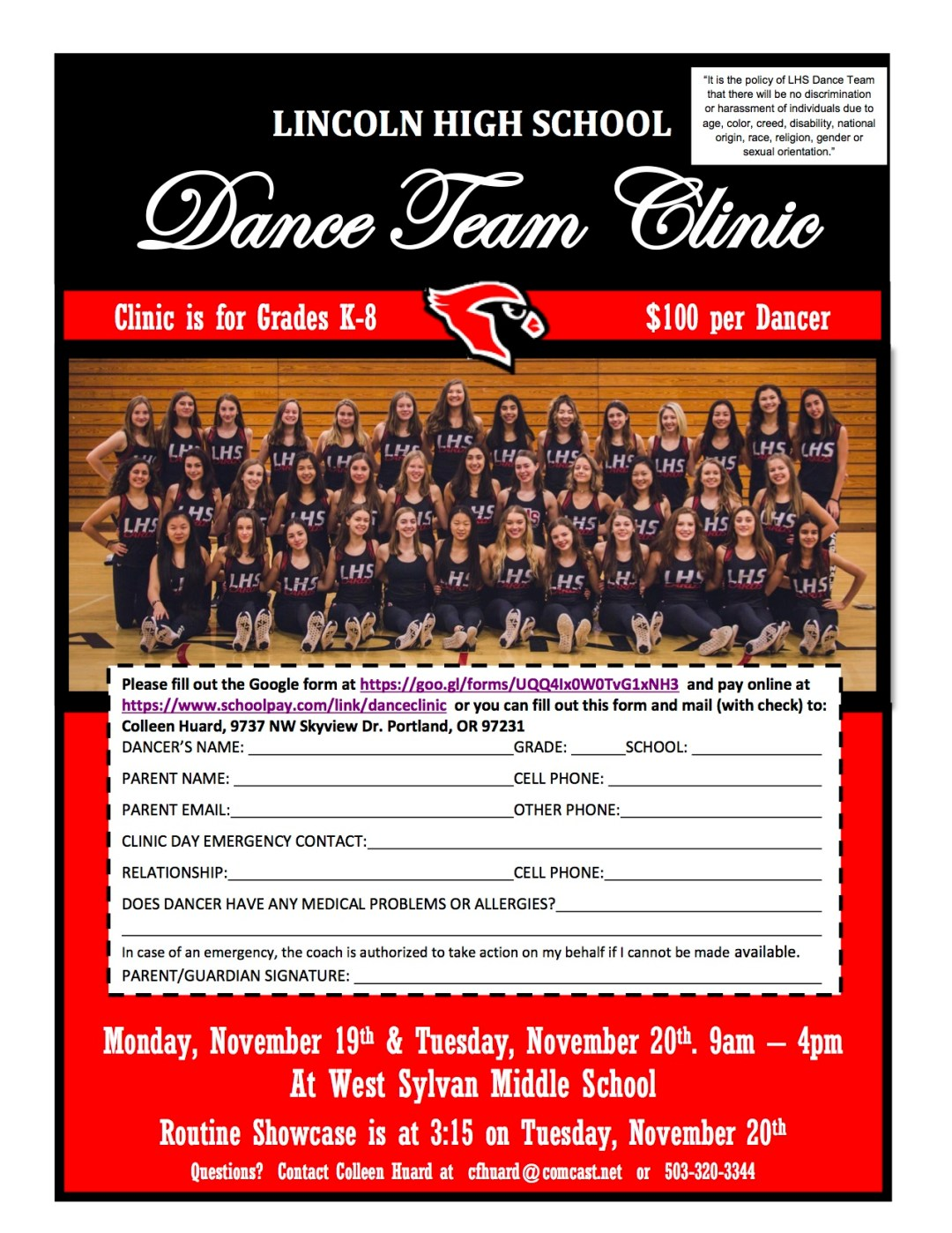 Dance Team Clinic 2018