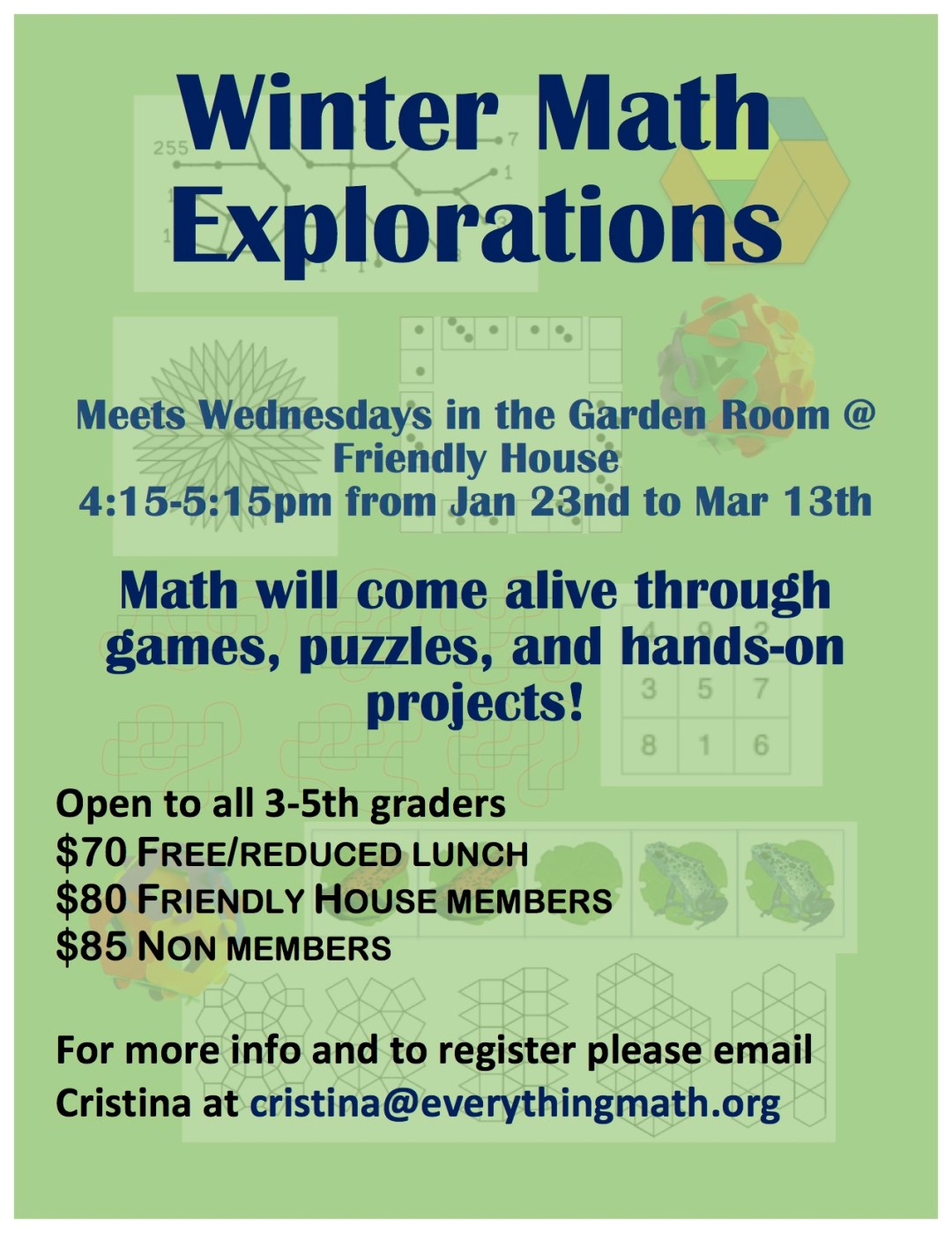Flier- Winter 3rd-5th Math Explorations