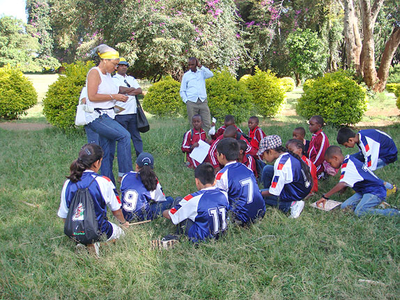 Organising the school kids who took part