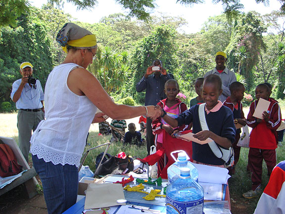 Organisers awarding Certificates of Participation