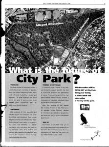 What is the future of City Park page?