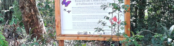 Signboard at entry to Pollinator Garden