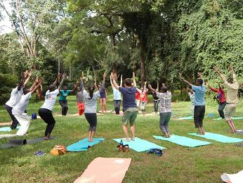 A Beautiful Green Cool Day To do Yoga 2019. [Photo Credit: Yoga Kenya]