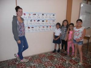 Maria teaching ABC's