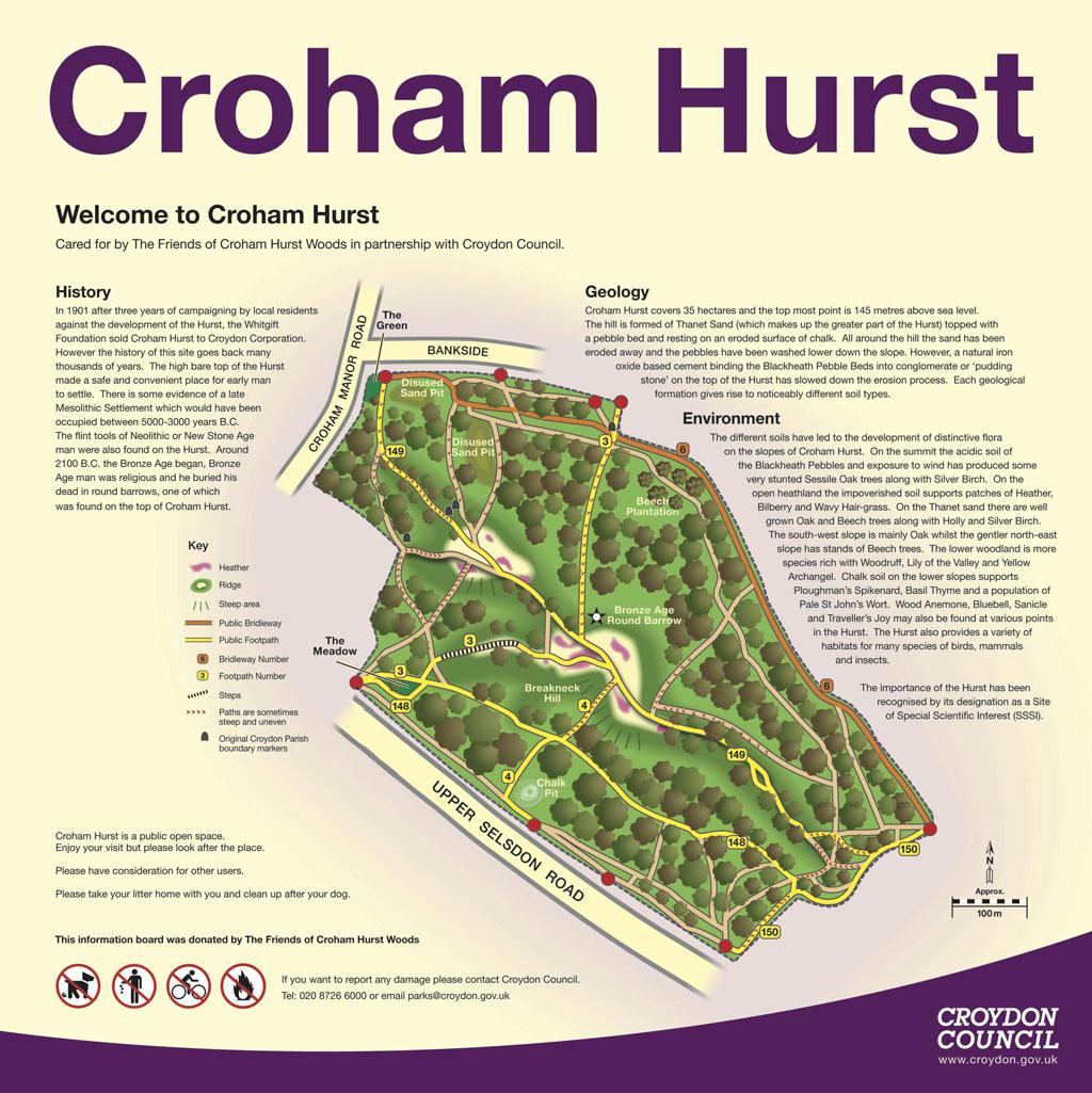 Map Friends Of Croham Hurst Woods