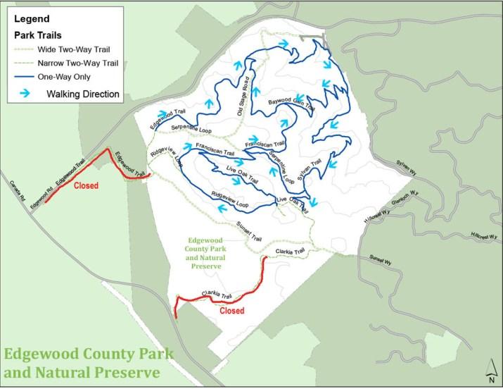 Edgewood Park Trail Map