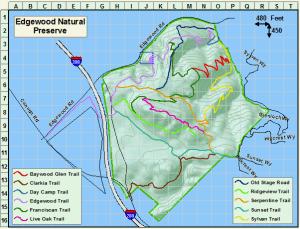 California lomatium (Lomatium californicum) distribution at Edgewood