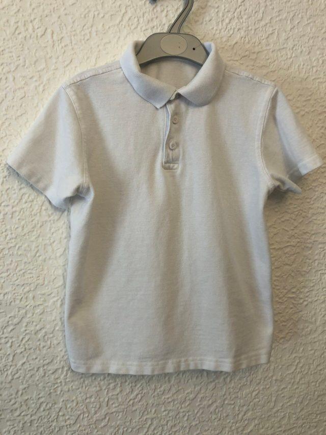 White Polo Shirt (size 7-8 years)