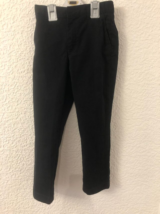 Black 'Skinkind' School Trousers (size 7-8 years)