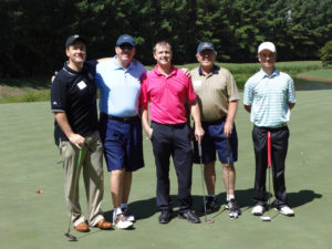 Roger S. Green with Friends President, John Winters, and team