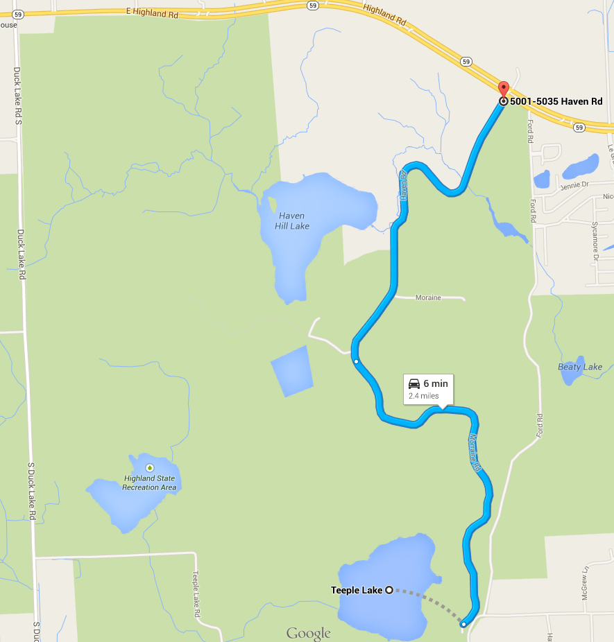 New Cedar Creek Trail at Highland State Recreation Area is Nearing Completion (3/6)
