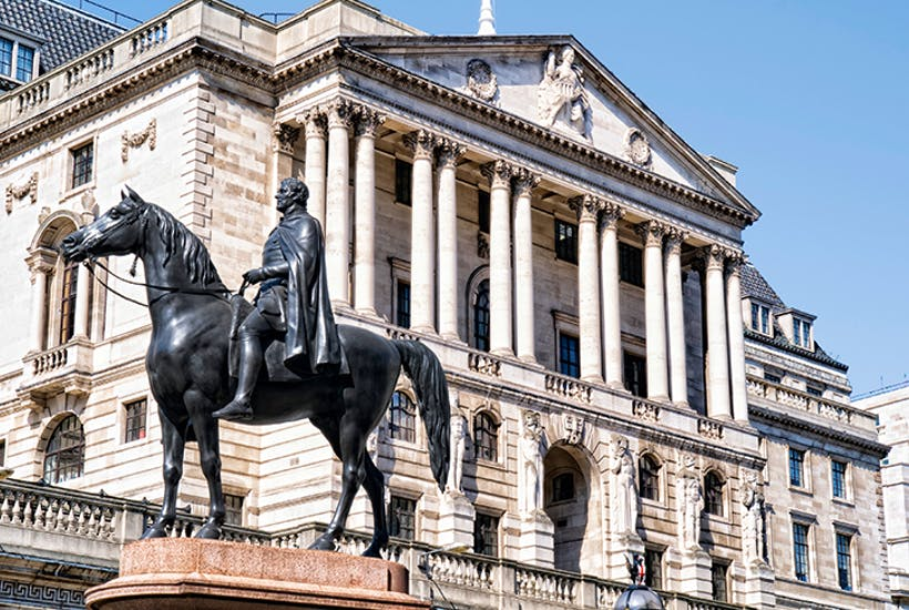 Image shows a view of the Bank of England to signify the organisation and the capital concept