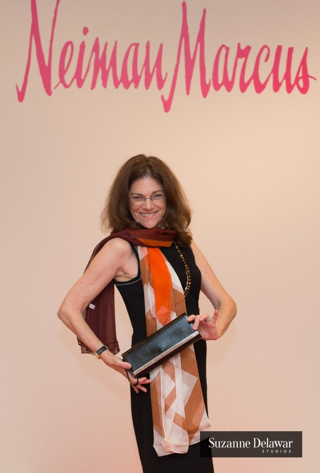 Melinda Cowen glams it up after winning the fabulous Fendi clutch donation by Neiman Marcus, Coral Gables.
