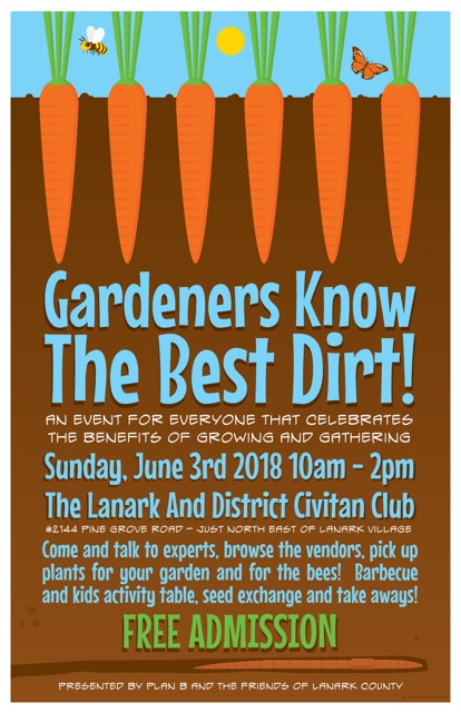 An event for everyone who celebrates the benefits of growing and gathering Sunday June 3rd 2018 10am to 2pm Lanark and District Civitan club Admission free