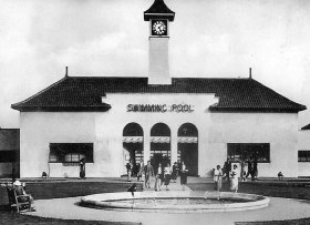 Peterborough swimming pool before it was renamed The Lido