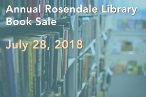 Annual Rosendale Library Book Sale July 28, 2018